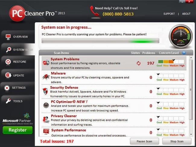 Pc cleaner pro 2013 license key - free