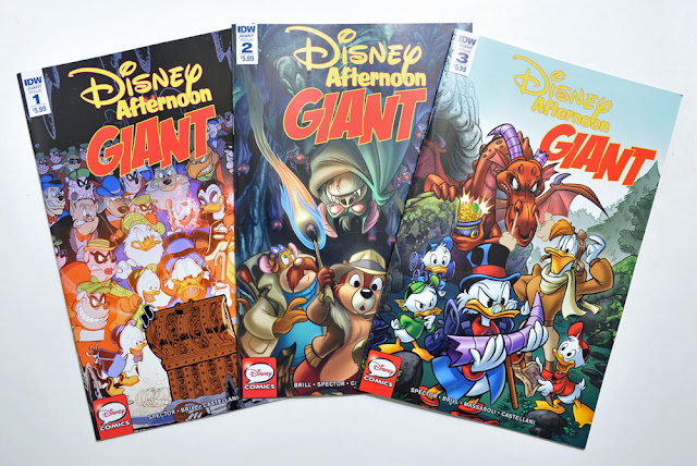 First three issues of IDW's Disney Afternoon Giant