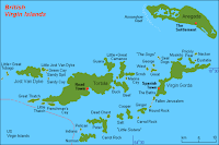 Britiske Jomfruøyene, populær havn for skjulte formuer. Kart.