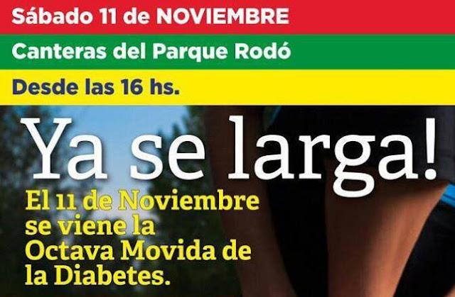 8k - 3,5k y 1k Movida de la diabetes (8a.ed.; Canteras del parque Rodó, 11/nov/2017)