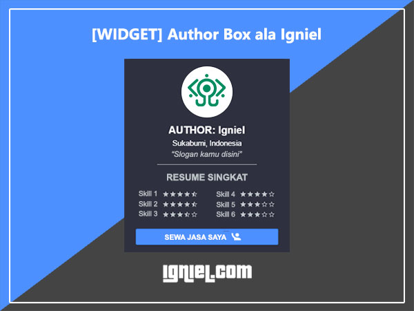 Widget Author Box Keren ala Igniel