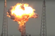 The Carrier Rocket Exploding, Satellite Facebook Destroyed in Florida
