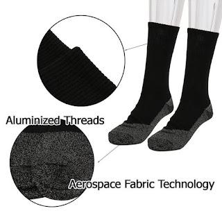 Aluminized Insulation Fibers Heat Socks