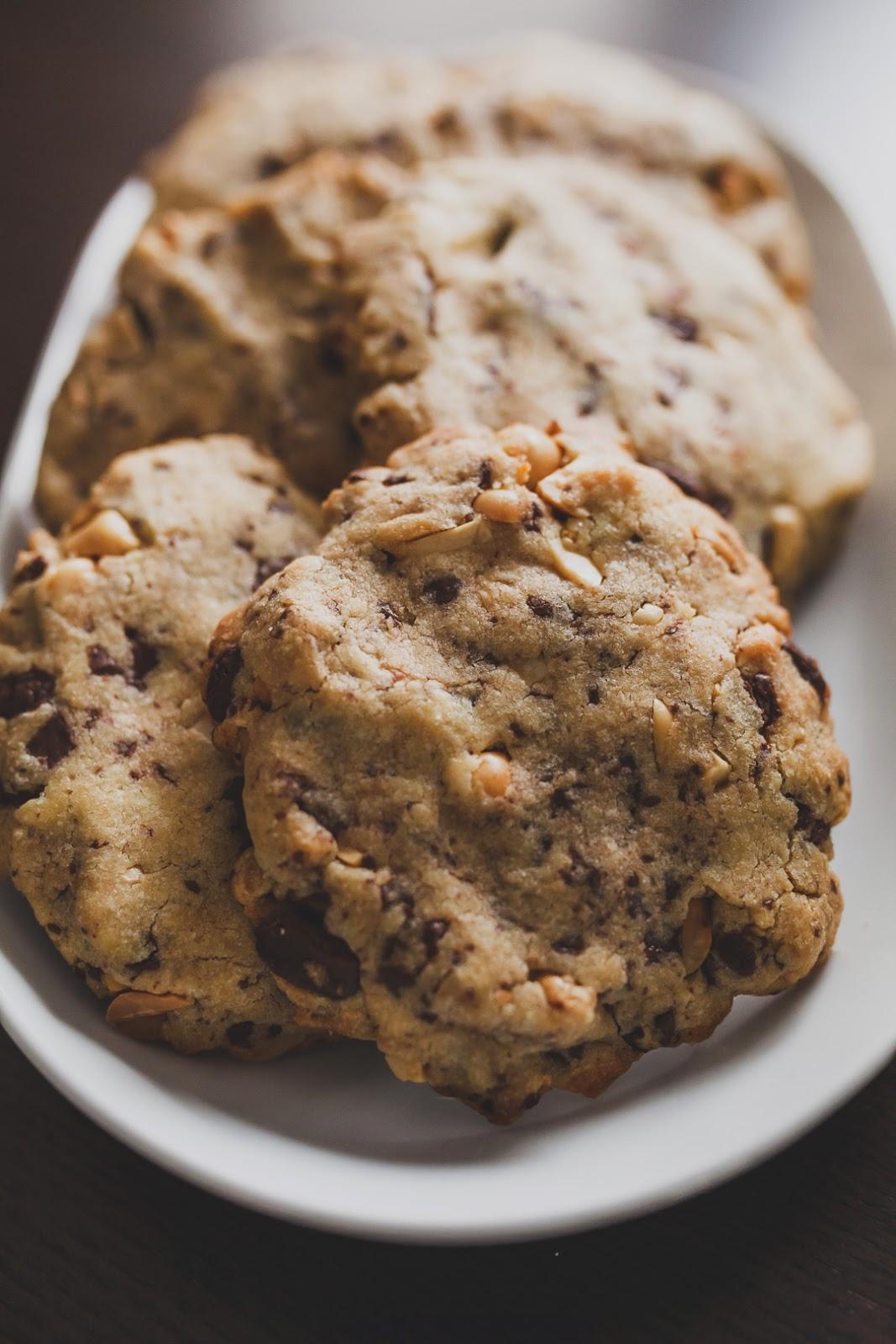 backen und kochen erdnuss schoko cookies. Black Bedroom Furniture Sets. Home Design Ideas