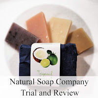 A selection of soaps from The Natural Soap Company