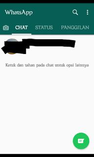 Memulai mengirim pesan atau chatting di whatsapp