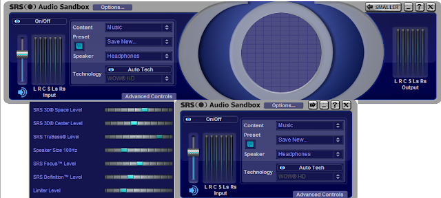 Screenshot SRS Audio Sandbox 1.10.2.0 Full Version