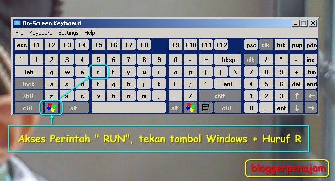Bagaimana cara cepat akses perintah RUN di Windows-caranya