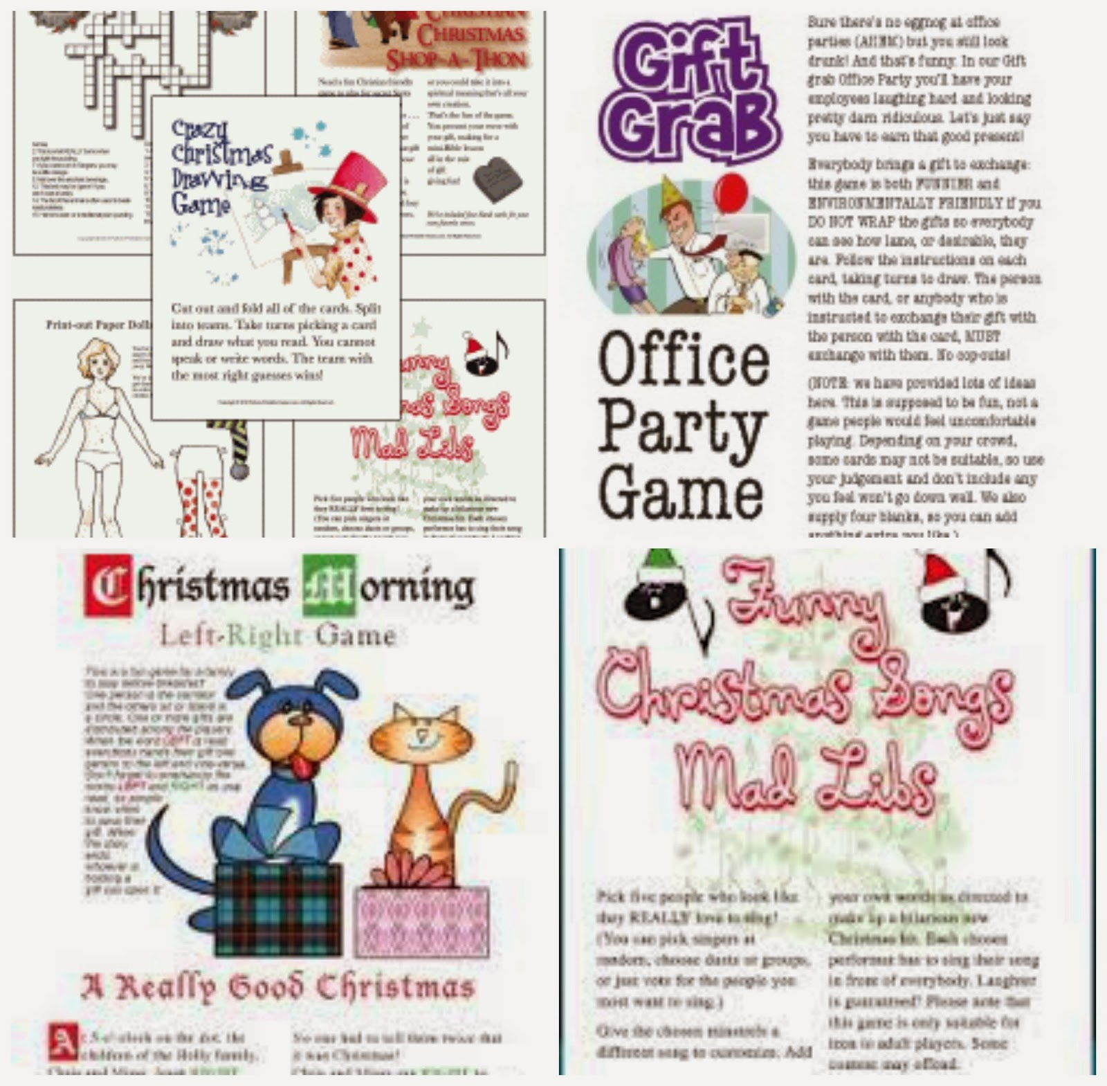 Python Printables Christmas Party Games Crafts And