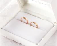 銀座ジュエリーサロンにて作ったセミオーダーマリッジリング(結婚指輪)。