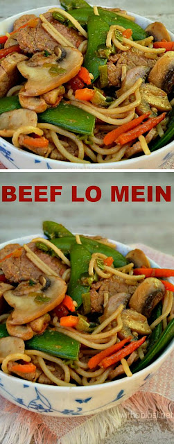 Only 20 minutes ! No need to order take-outs ~ Beef Lo Mein is the perfect Spring dinner