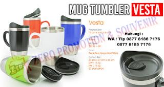 Souvenir Tumbler VESTA, Tumbler Promosi Vesta, botol tempat minum Tumbler Vesta Stainless Mug, Drink Ware Vesta Travel Tumbler