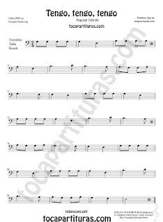 Tengo Tengo Tengo Sheet Music for Flute,  Violin, Alto Sax, Trumpet, Viola, Guitar, Oboe, Clarinet, Tenor Sax, Soprano Sax, Trombone, Flugelhorn, Cello, Bassoon, Baritone Sax, Euphonium, Horn, Tube...