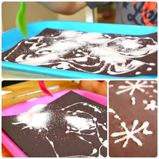 Salt Fireworks 4th of July Craft for Kids