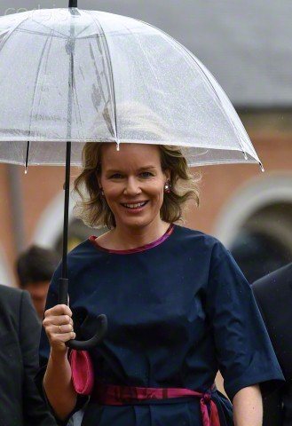 Queen Mathilde of Belgium visited the 'La Salle de Pendus' exhibition at MAC's