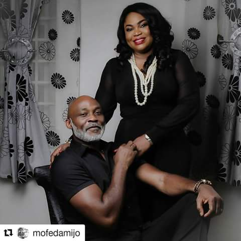 Picture of Mr  Mofedamijo and wife.