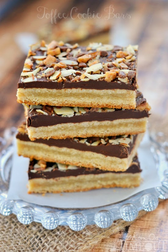 toffee cookie bars recipe