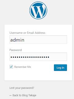 Login ke dasbor admin wordpress