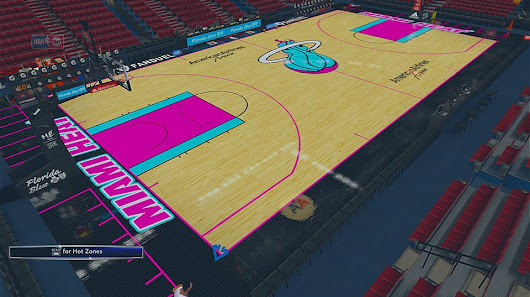 "Miami Heat ""Vice City"" Fictional Court By Jumpman2k [FOR 2K14]"