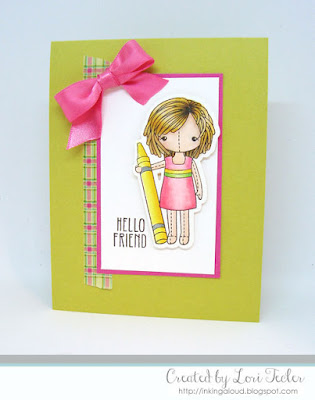 Hello Friend card-designed by Lori Tecler/Inking Aloud-stamps and dies from Clear and Simple Stamps