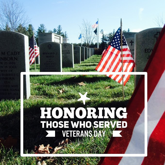 Honoring Those Who Served - Veterans Day 2016