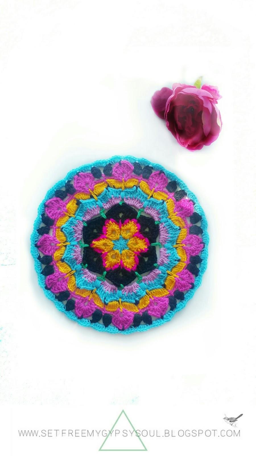 african flower mandala crochet pattern boho hippie floral free