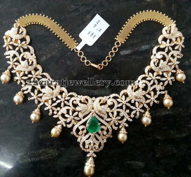 Peacock Diamond Set 7 Lakhs
