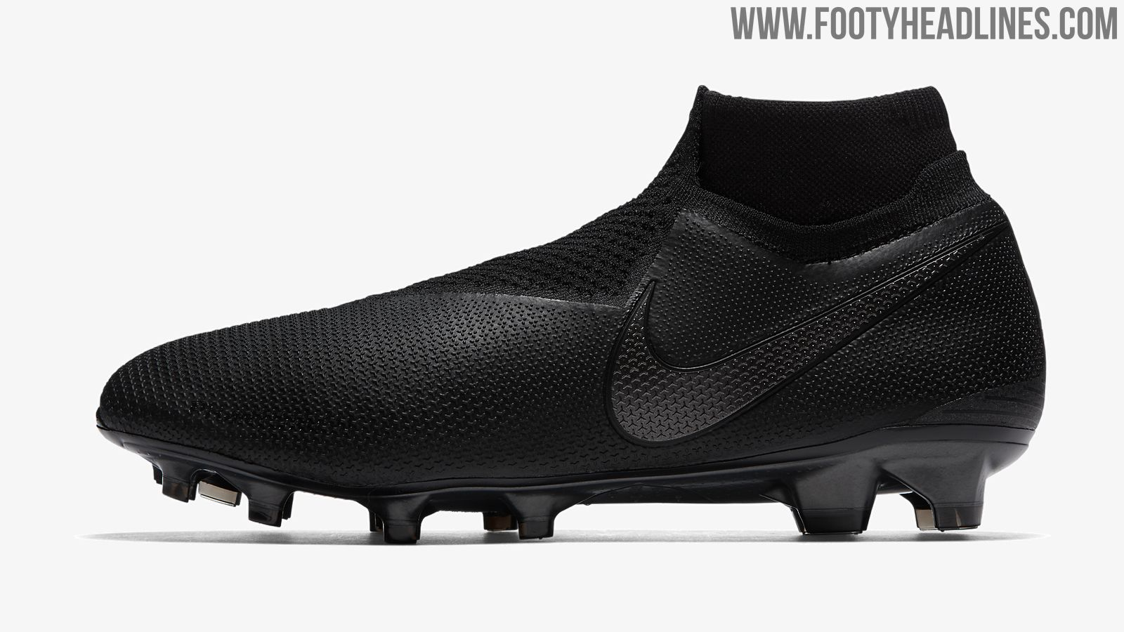 92ae66915 Nike released a completely blackout Nike Phantom Vision football boot as  part of the Nike 2018-19 Black Ops Black Pack.