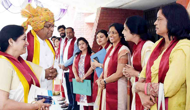 Graduate degree to 154 students in 25th convocation of State Women's College Faridabad