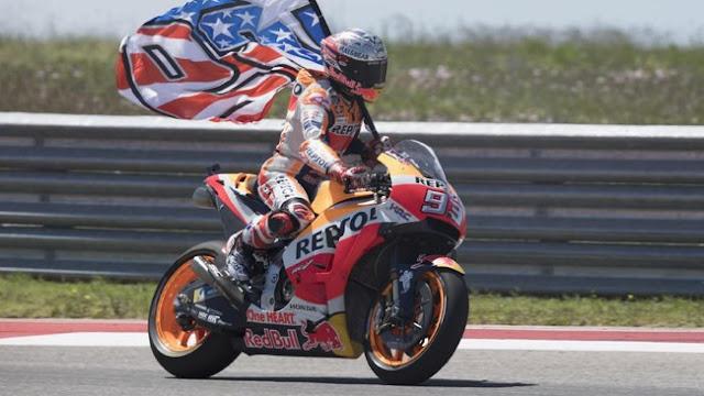 Kemenangan di Austin Bikin Marquez Dekati Sebuah Pencapaian Rossi