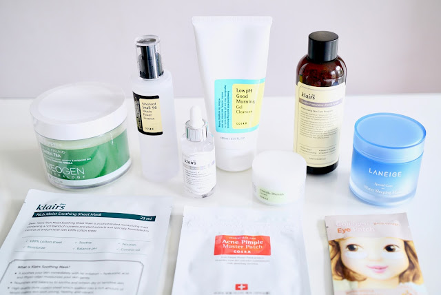 korean skincare beauty haul, where to shop for skincare in seoul