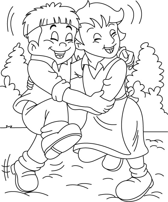 coloring pages about friendship - friendship day coloring pages holiday coloring pages