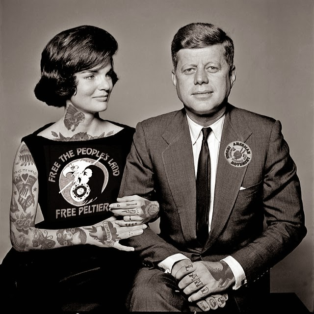 16-Jf-Kennedy-And-Jackie-Cheyenne-Randall-Shopped-Tattoos-Tattooed-Celebrities-www-designstack-co