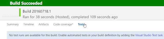 vsts build - tests