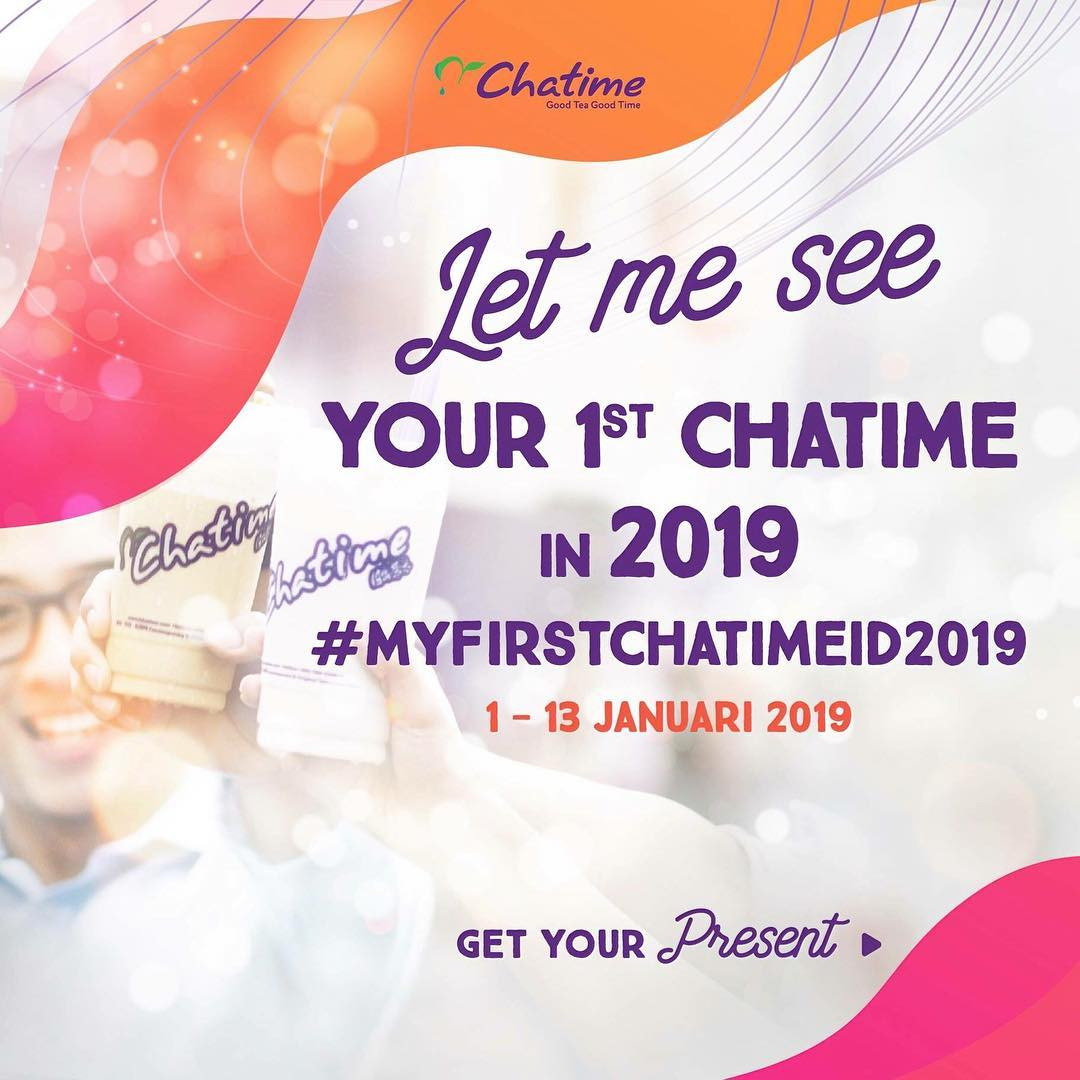 #Chatime - Promo Kontest Let Me See Your 1st Chatime in 2019 (s.d 13 Jan 2019)