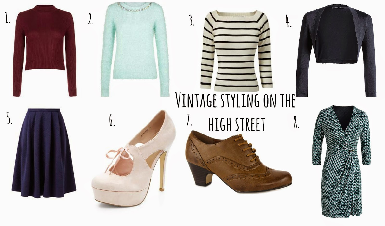 Vintage styling on the high street