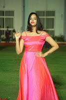 Actress Pujita Ponnada in beautiful red dress at Darshakudu music launch ~ Celebrities Galleries 019.JPG