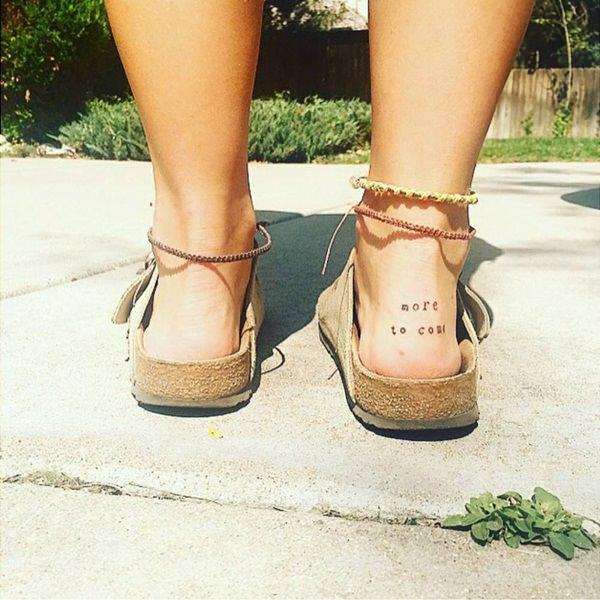 small temporary tattoo