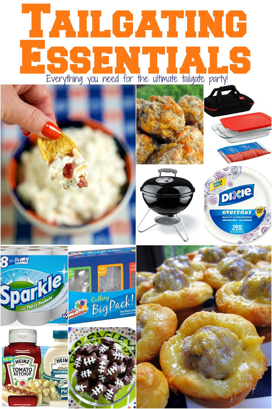 Tailgating Essentials - everything you need for the ULTIMATE tailgate party! What to bring to the parking lot and the BEST tailgate recipes on the internet!