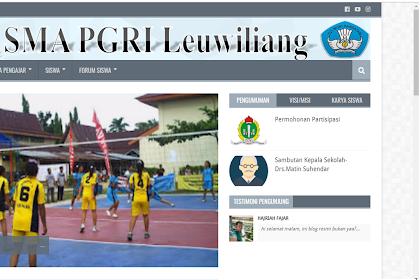 Pentingnya web sekolah, SMA PGRI Leuwiliang