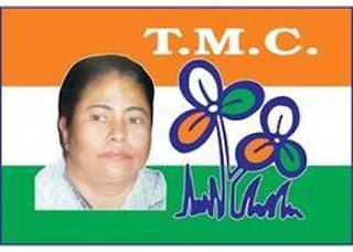 TMC flag with mamata