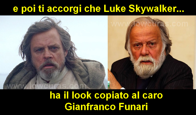 Luke Skywalker e Gianfranco Funari