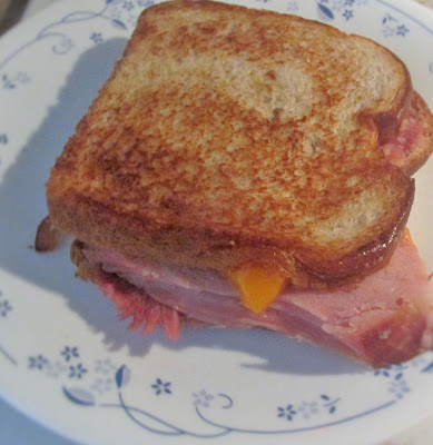 Grilled Ham and Cheese -great way to use leftover ham!  Vickie's Kitchen and Garden