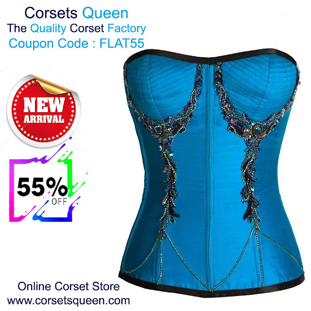 b719b312a New Corset Collection Sale - Flat 55% OFF Ivan Turquoise Satin Overbust  Couture Corset USA- https   tinyurl.com y9svg7j5. UK-  https   tinyurl.com y89zxnst