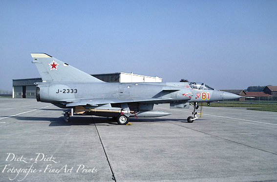 """Mirage IIIS J-2333 """"Aggressor 81"""" - Joke im WK einen Monat vor dem Mauerfall - Payerne Oktober 1989"""