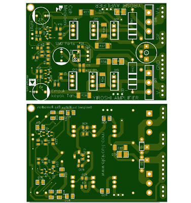 Top Bottom PCB Layout Design Power Amplifeir yiroshi