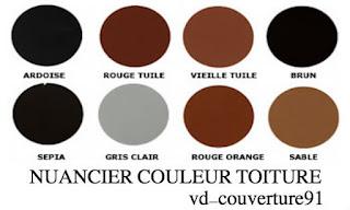 nuancier couleur toiture