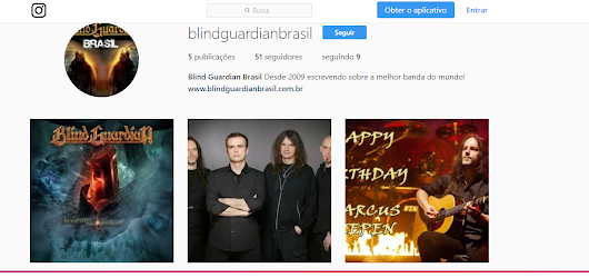 Blind Guardian Brasil: Blind Guardian Brasil no Instagram