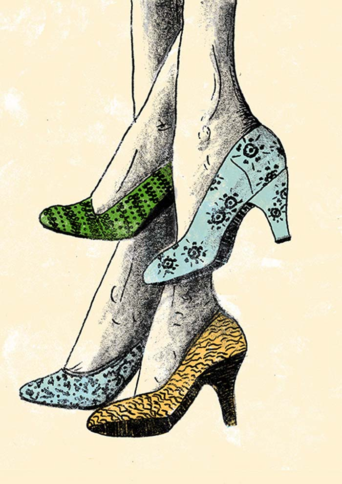Ilustración, For the love of shoes de Evelyn Prentice