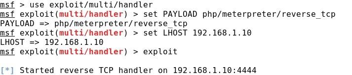 Whitelist: Command Injection (IV): Webshell -> Msfvenom / Meterpreter